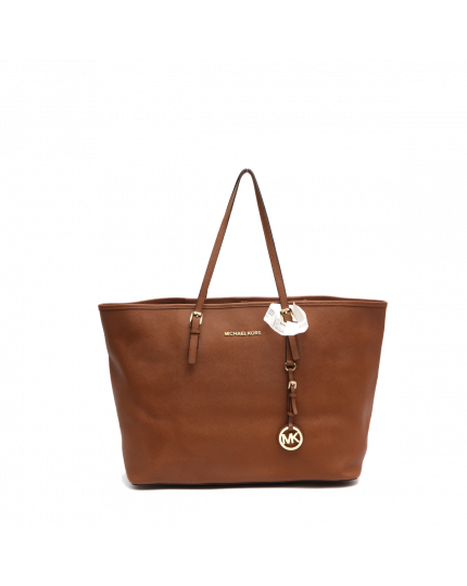 Brown Jet Set Tote Bag