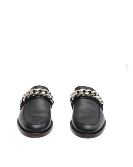 GIVENCHY chain leather flats