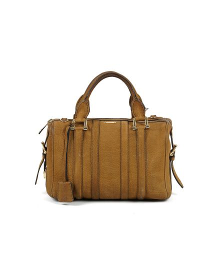 Burberry Nubuck Leather Boston bag