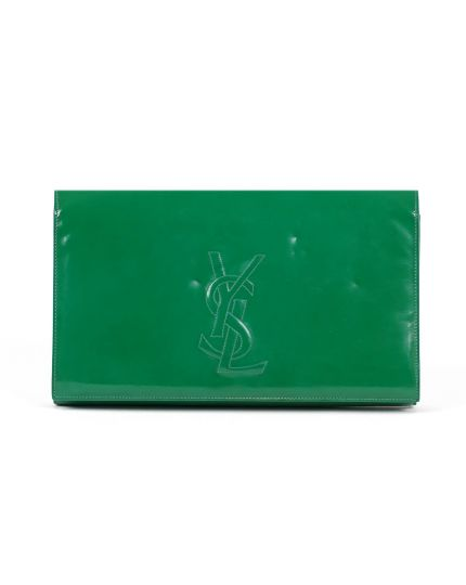 Yves Saint Laurent Sac de Jour Green Clutch