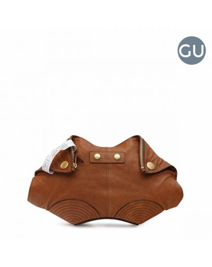 De Manta Brown Clutch