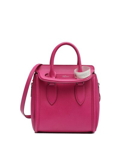 ALEXANDER MCQUEEN PINK LEATHER MEDIUM HEROINE TOTE