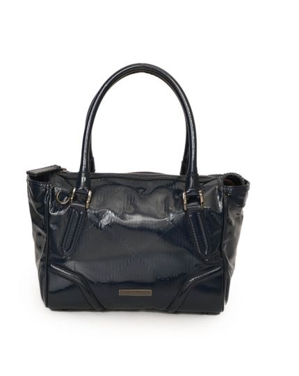 Embossed Check Patent Leather Bag