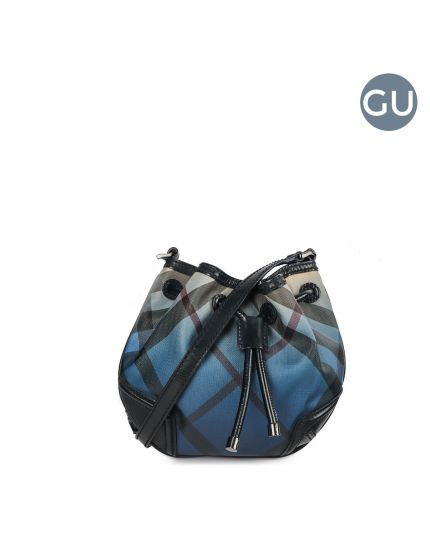 Nova Check Small Blue Bucket bag