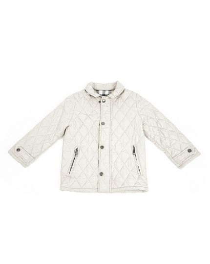 Baby Beige Quilted Jacket Size - 5Y/108 cm