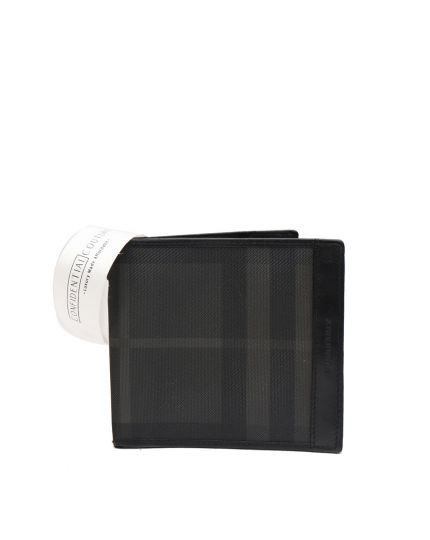 London Mens Beat Check Bi fold Wallet