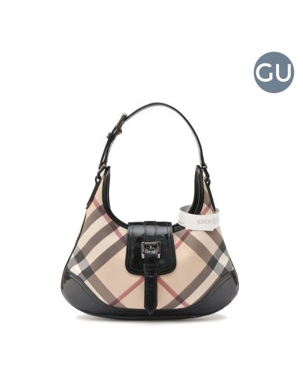 Nova check brooke small hobo bag