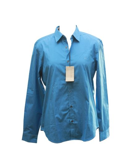 Mens Burberry britt Aqua Blue Shirt Size L