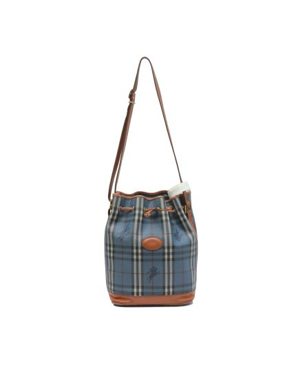 Vintage Blue Haymarket Bucket Bag