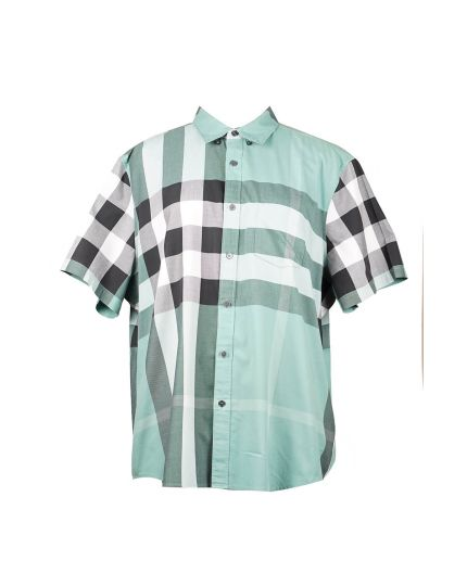 Brit Bi-color Half Sleeve Shirt in Green Size - XXXL