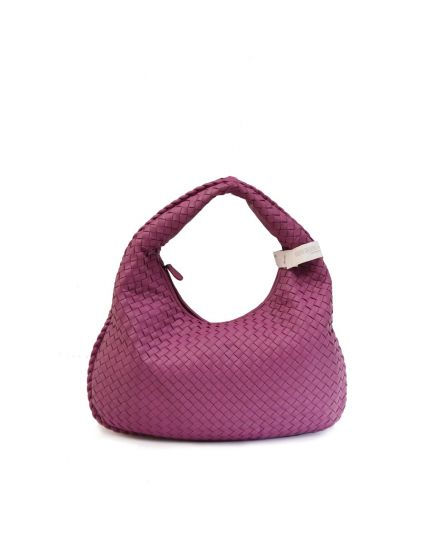 LILAC NAPPA INTRECCIATO MEDIUM HOBO ANTIQUE