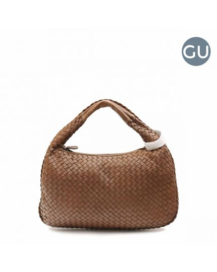 Brown Nappa Intrecciato Brown hobo bag