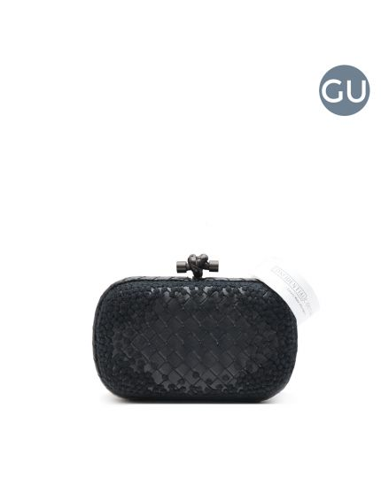 Limited Edition Black Leather Knot Clutch