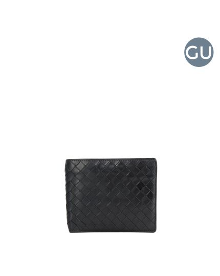 Men's Black intrecciato leather wallet