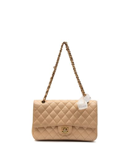Chanel Caviar Beige Front Flap 2.55 Classic