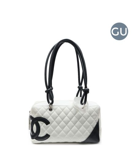 White cambon CC boston bag