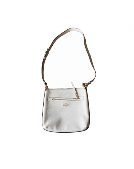 File Mae White Petal Cross Body Bag