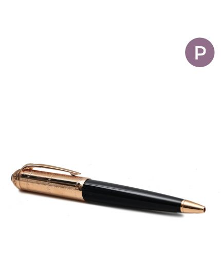 Roadster De Cartier Black / Rosegold Resin Ballpoint Pen