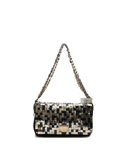 Embellished Miss Charles bag with chain and pearl handle