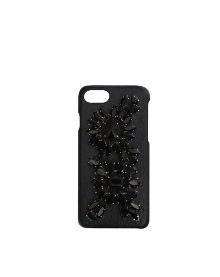 Black Crystals Embellished I Phone 7 Phone Cover