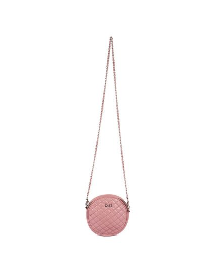 D&G Quilted Leather Round Crossbody Bag