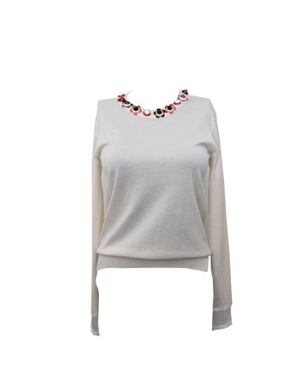 Beige Signature Full Sleeves Knitted top Size 38