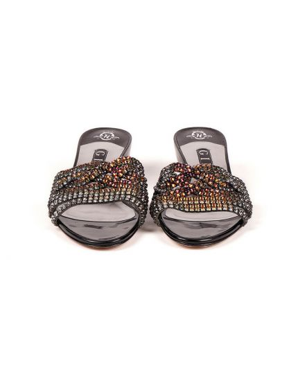 Gina Wedge Slide Sandals Black Size - 5