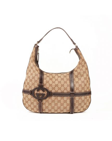 Gucci Monogram Hobo Bag