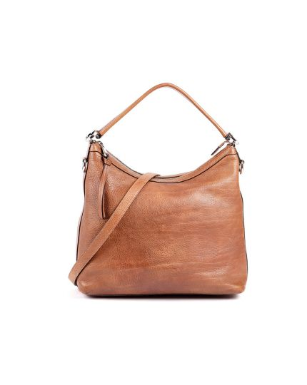 Miss GG Brown Leather Hobo
