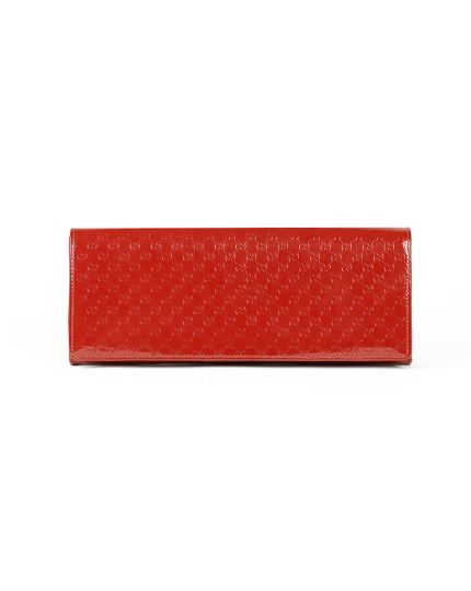 Red Microguccissima Patent Leather Broadway Evening Clutch