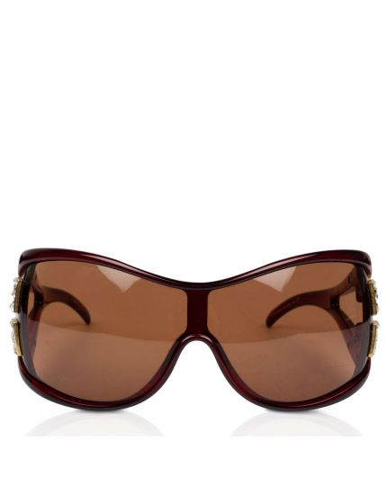 Wrap Maroon Sunglasses