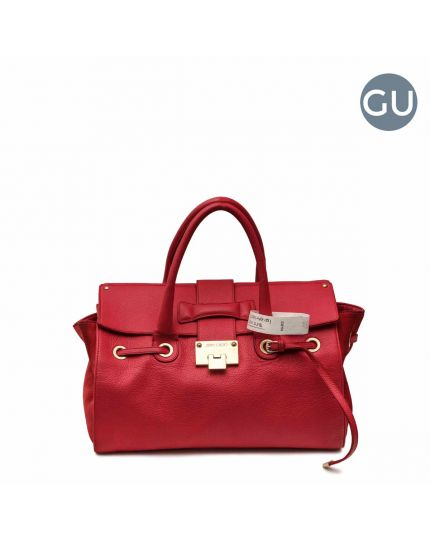 ROSALIE LARGE GRAINY LEATHER TOTE BAG