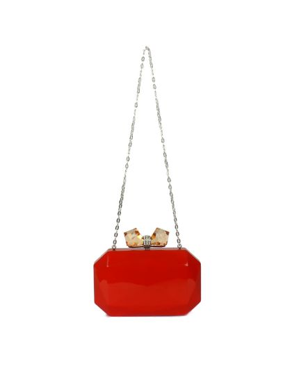 Judith Leiber Red Bow Clutch