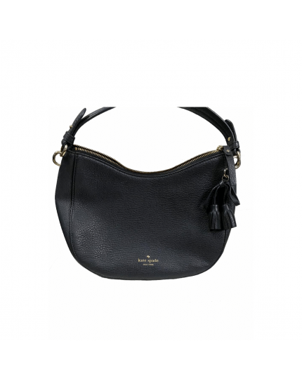Black Leather Bag with Detachable Strap