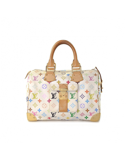 Multicolor White Speedy 30 Limited Edition Bag