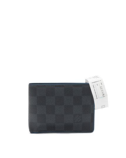 DAMIER GRAPHITE CANVAS MULTIPLE MENS BI FOLD WALLET