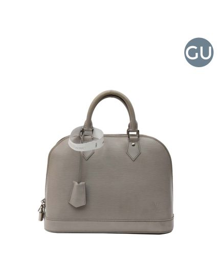 Light Grey Epi Leather Alma PM