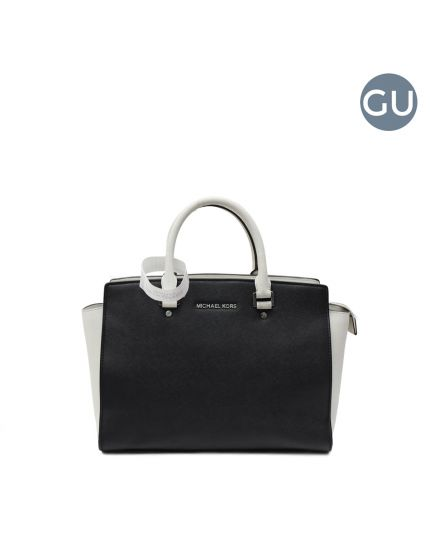 Black/White Selma Tote bag