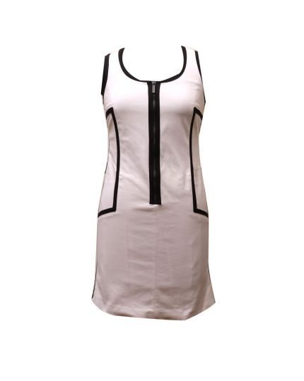 MICHAEL KORS WHITE & BLACK BANDAGE DRESS Size 6
