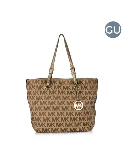 Michael Kors Monogram fabric canvas shoulder tote bag
