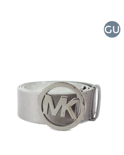Michael Kors Silver Grey Belt Size 34