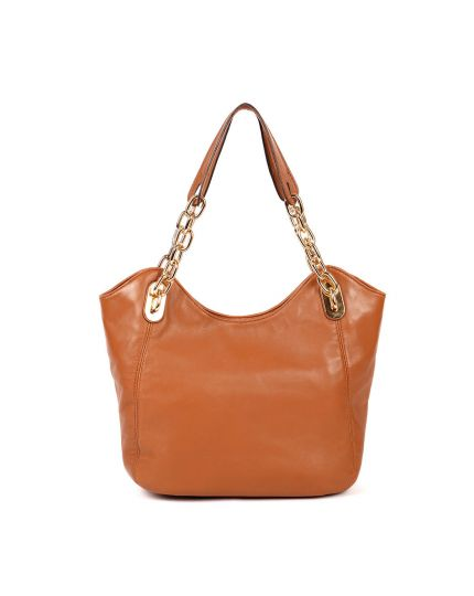 Michael Kors Leather Tan Chain Bag