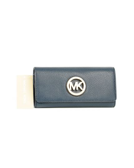Michael Kors Blue Leather Fulton Wallet