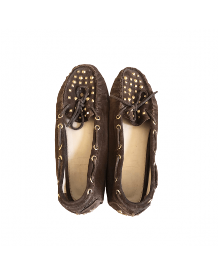 Brown Penley Studded Women's Loafer Size – 9