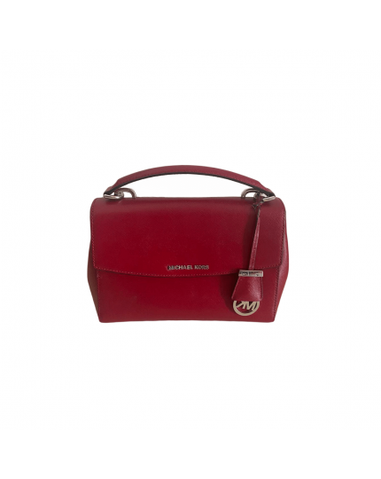 Cherry Ava Saffiano Leather Small Shoulder Bag