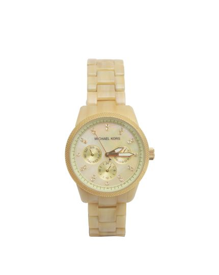Woman's Beige Chronograph watch