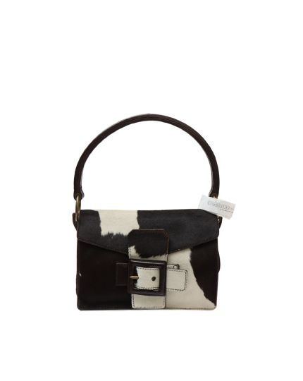 Brown and white pony hair Tote Bag