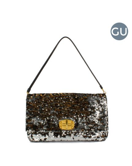 Miu Miu Black Paillette Sequin Top Handle Bag