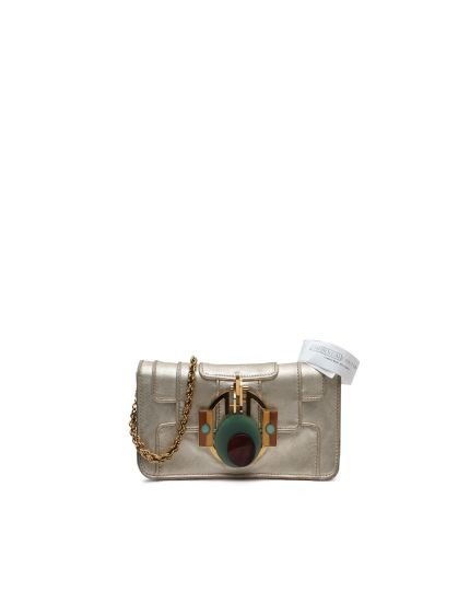 Gold Front Flap Sling Bag