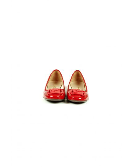 Red Patent Leather My Charmel Flats Size - 9.5